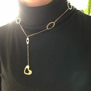 """14K Heart """"Y style"""" Necklace"""